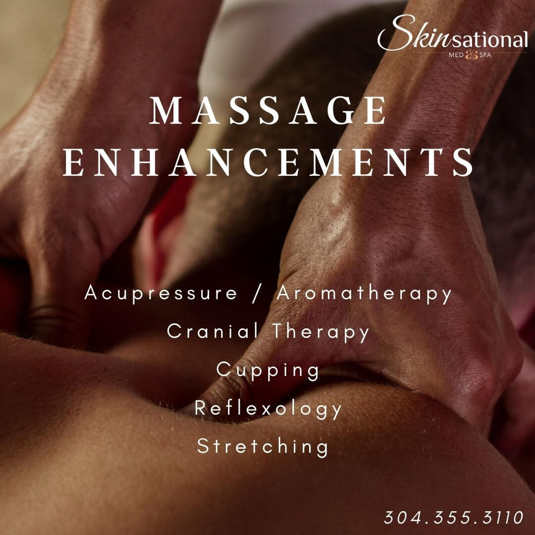 Massage. Acupressure. Aromatherapy. Cranial Therapy. Cupping. Reflexology. Skinsational Med Spa. Morgantown, WV